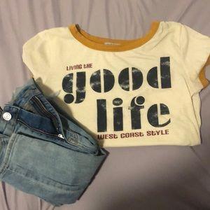 """""""Good Life"""" ringer tee"""
